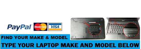Payments accepted by paypal and credit card on laptopchargers.ie