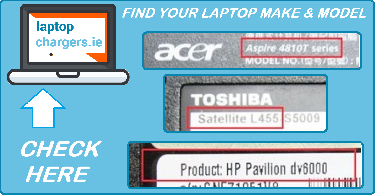 How to find your laptop make and model